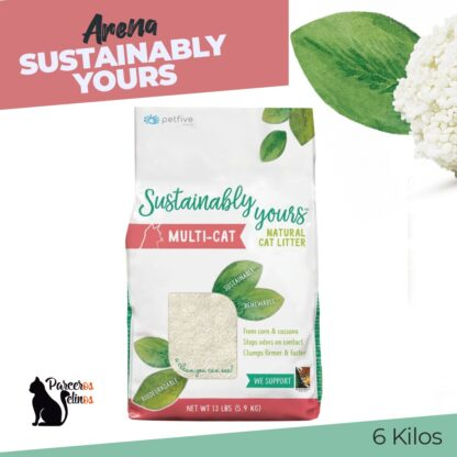 ARENA SUSTAINABLY YOURS 6kg Parceros felinos
