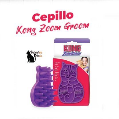 Cepillo Kong Zoom Groom parceros felinos