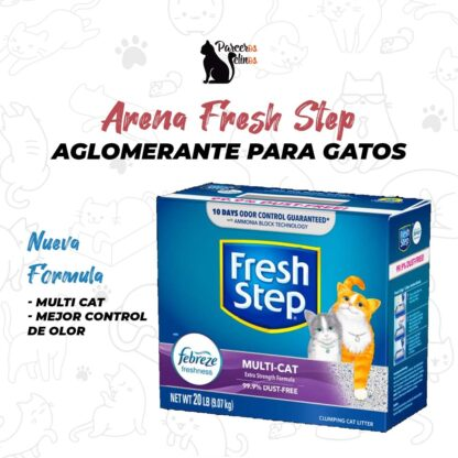 arena fresh step parceros felinos