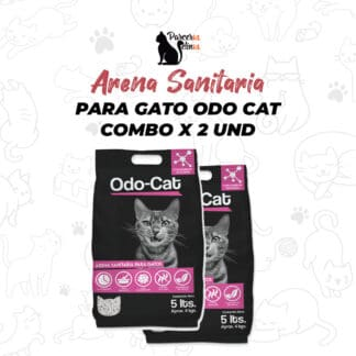 ARENA SANITARIA PARA GATOS ODO CAT COMBO 2 UNID