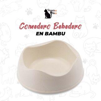 COMEDERO BEBEDERO EN BAMBU