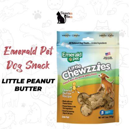 EMERALD PET DOG SNACK LITTLE CHEWZZIES - PEANUT BUTTER 5OZ