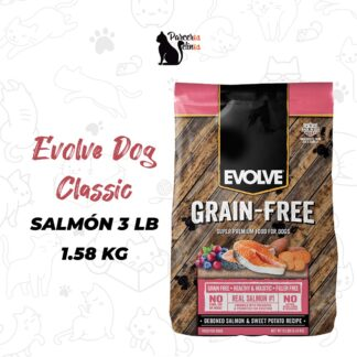 Evolve Dog Classic salmón 3 LB 1.58 KG