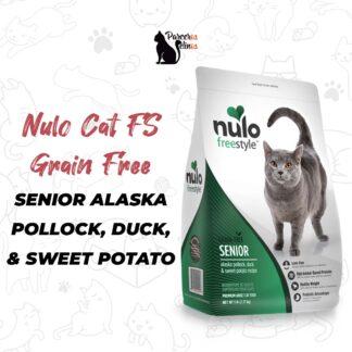 NULO CAT FS GRAIN FREE SENIOR ALASKA POLLOCK, DUCK, & SWEET POTATO