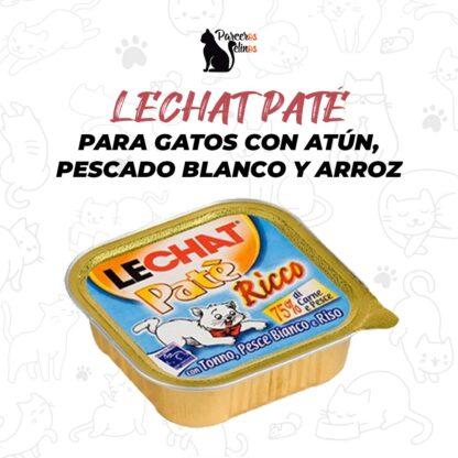 LECHAT PATÉ PARA GATOS CON ATÚN, PESCADO BLANCO Y ARROZ