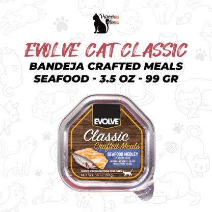 EVOLVE CAT CLASSIC BANDEJA CRAFTED MEALS SEAFOOD MEDLEY 3.5 OZ - 99 GR