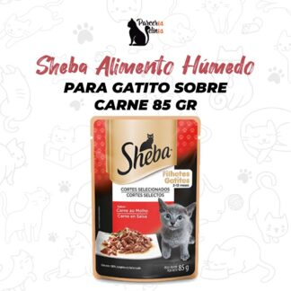Sheba Alimento Húmedo Para Gatito Sobre Carne 85 gr